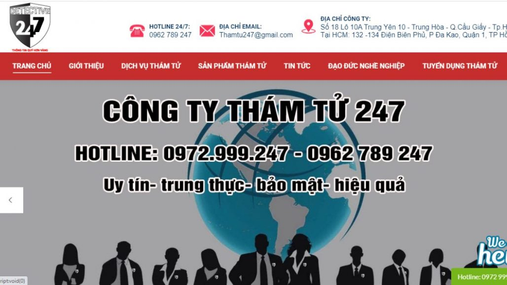 Top 10 công ty thám tử tư uy tín nhất tại TPHCM 2021
