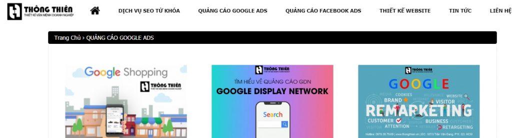 Công ty chạy quảng cáo Google Adwords Thông Thiên