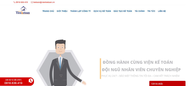 Dịch vụ thành lập công ty VIỆN KẾ TOÁN