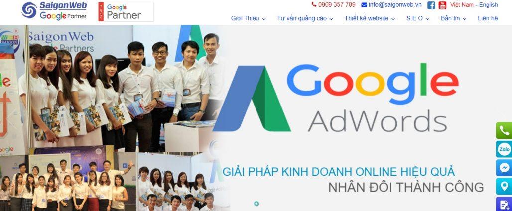 Công ty chạy quảng cáo Google Adwords Saigon Web