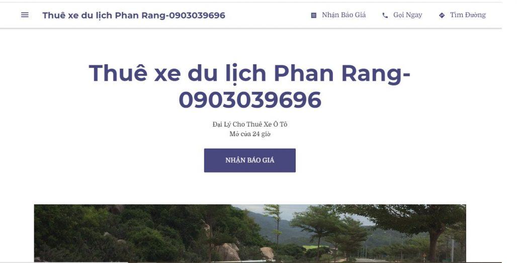 Công ty dịch vụ thuê xe du lịch Phan Rang