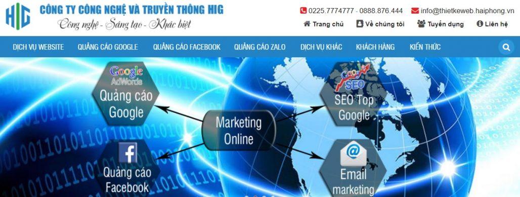 Công ty chạy quảng cáo Google Adwords HIG