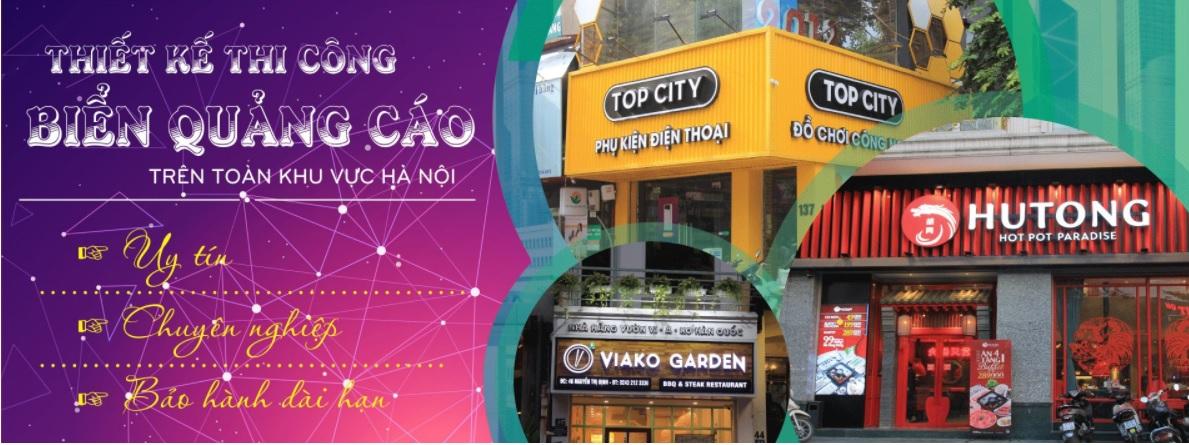 Công ty thi công bảng hiệu quảng cáo LED Việt Á
