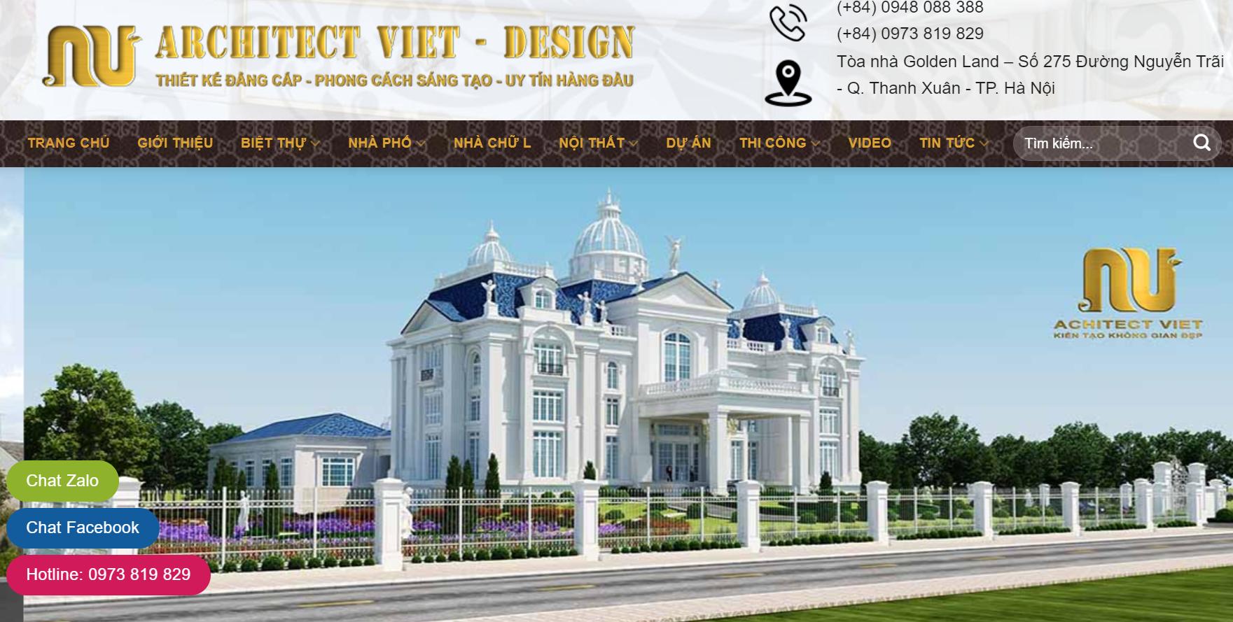 Công ty thiết kế nhà Architect Viet - Design