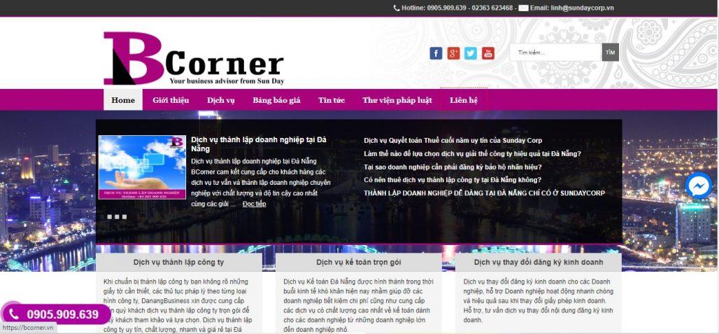 Dịch vụ thành lập công ty Công ty Bcorner