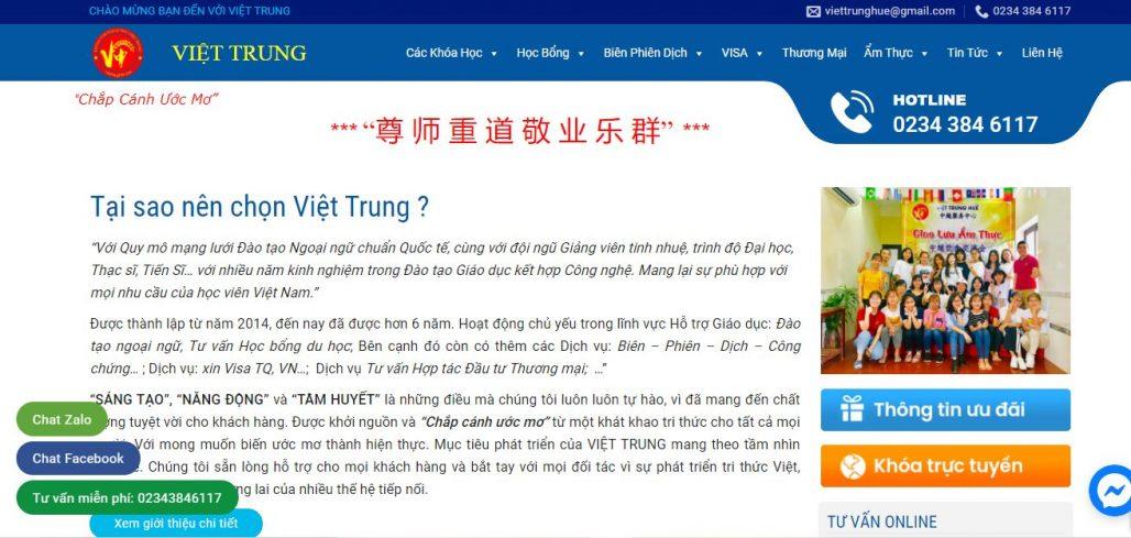 Trung tâm ngoại ngữ Việt Trung