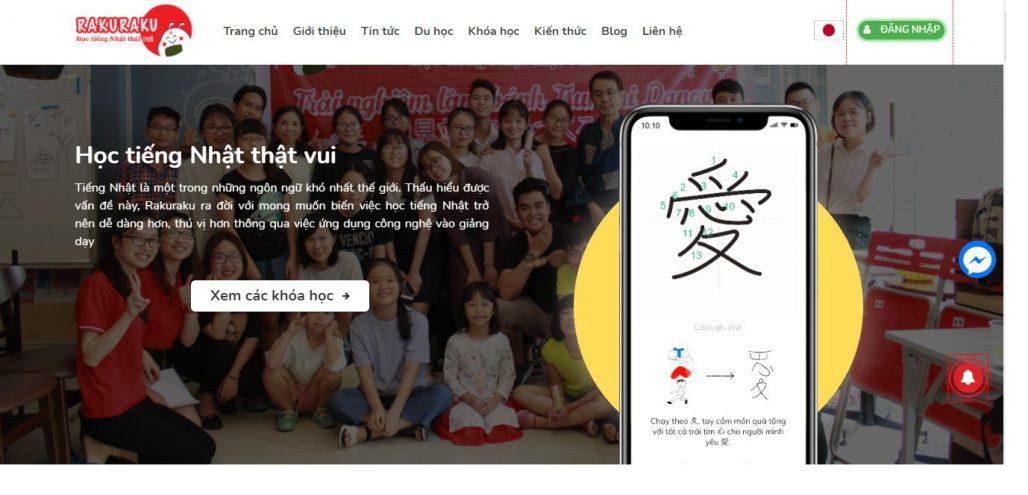 Trung tâm tiếng Nhật - Nhật ngữ và tư vấn du học Rakuraku