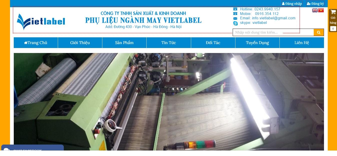 Công ty TNHH SX KD phụ liệu ngành may VIETLABEL