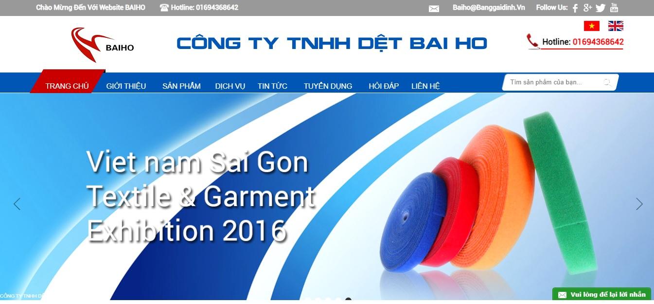 Công ty cung cấp vải và phụ liệu may Baiho Việt Nam