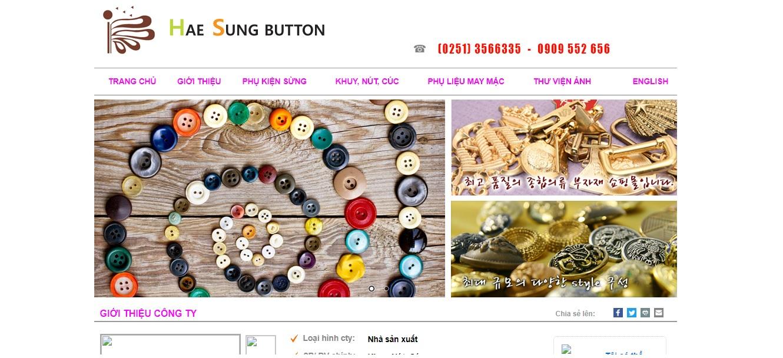 Công ty cung cấp vải và phụ liệu may mặc Haesung Việt Nam