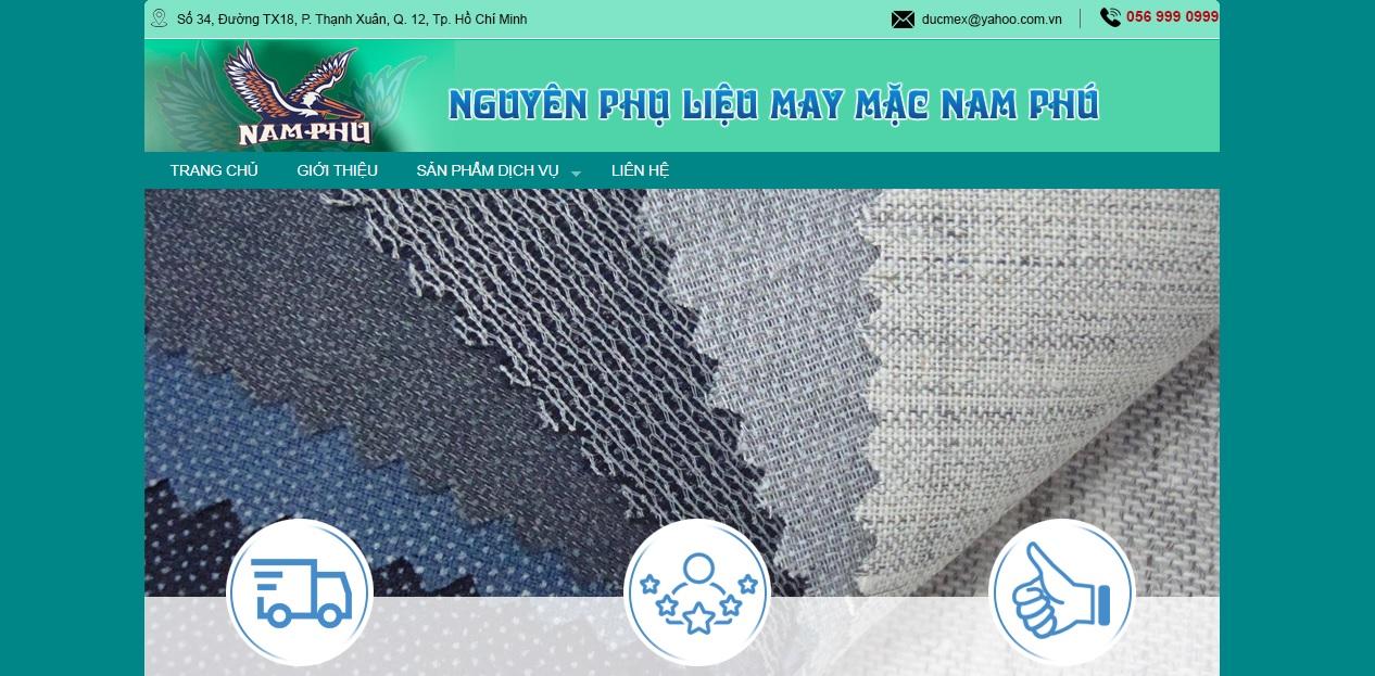 Công ty cung cấp vải và phụ liệu may mặc Nam Phú