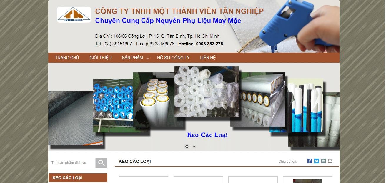 Công ty cung cấp vải và phụ liệu may mặc Tân Nghiệp