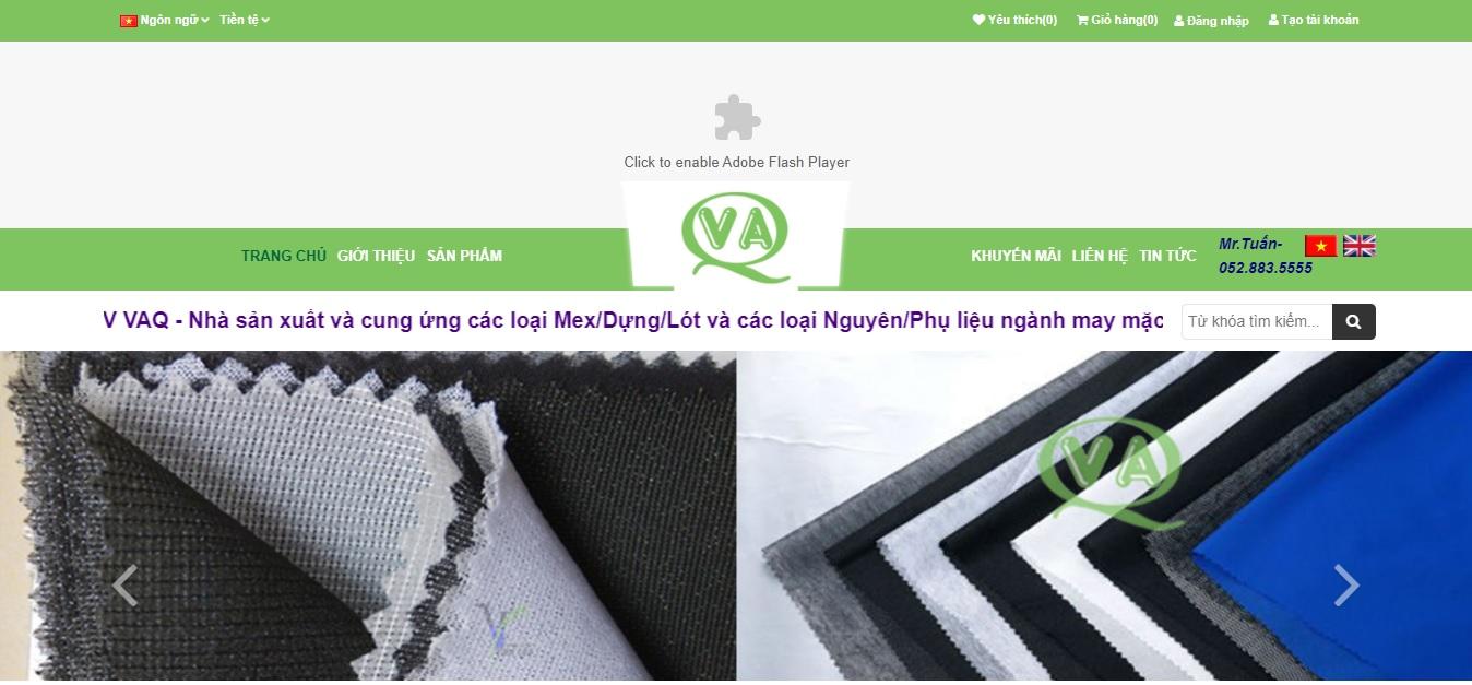 Công ty cung cấp vải và phụ liệu may mặc VAQ