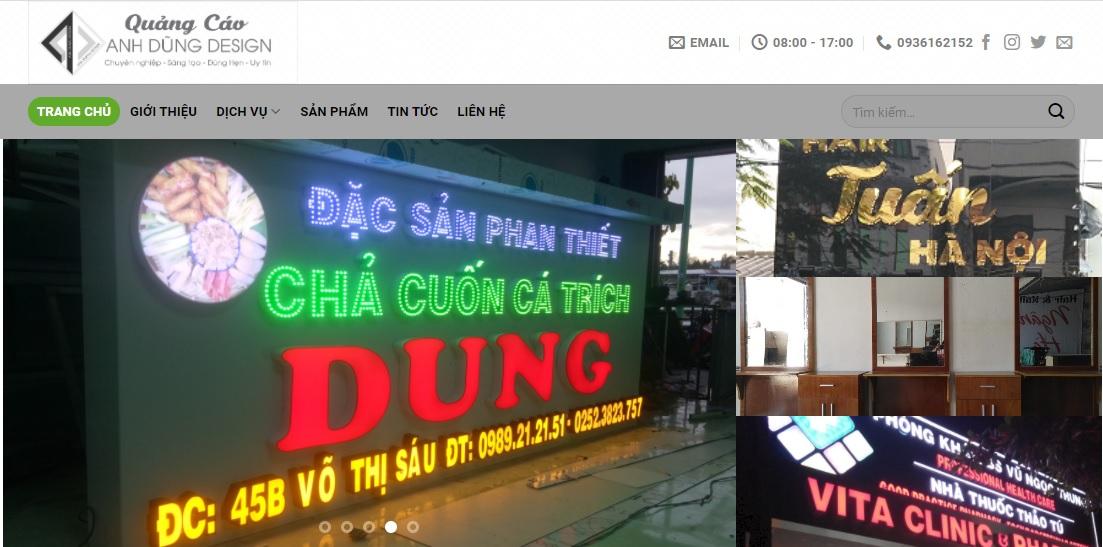 Công ty thi công bảng hiệu quảng cáo Anh Dũng Design