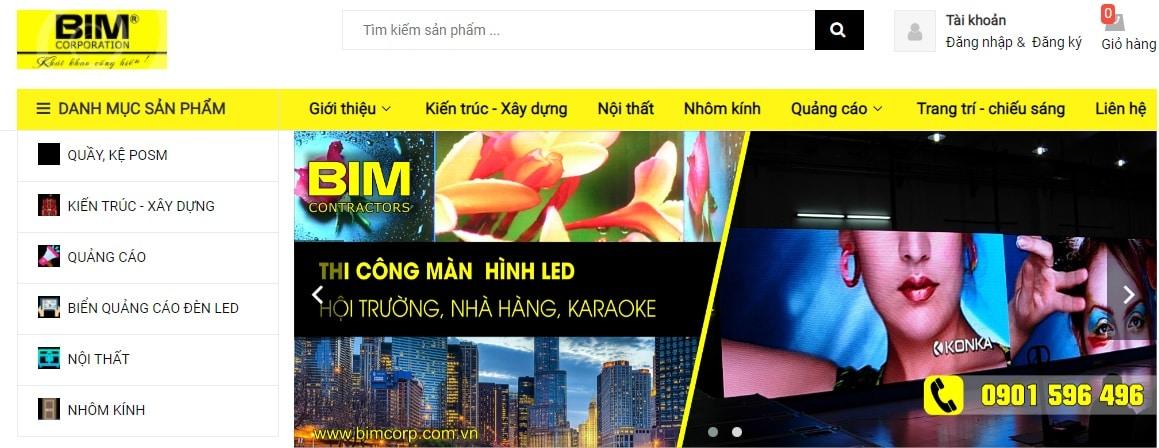 Công ty thi công bảng hiệu quảng cáo Bim