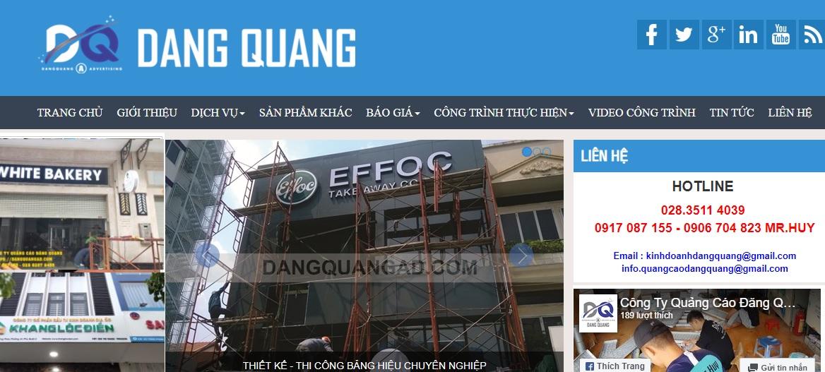 Công ty thi công bảng hiệu quảng cáo Đăng Quang