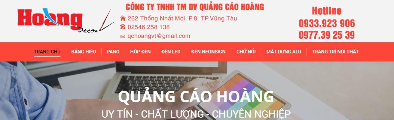 Công ty thi công bảng hiệu quảng cáo Hoàng