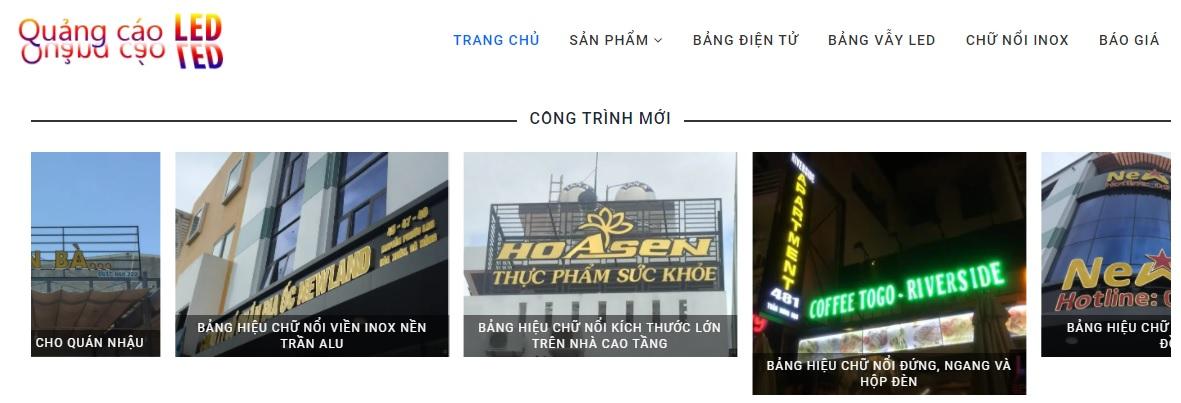 Công ty thi công bảng hiệu quảng cáo LED