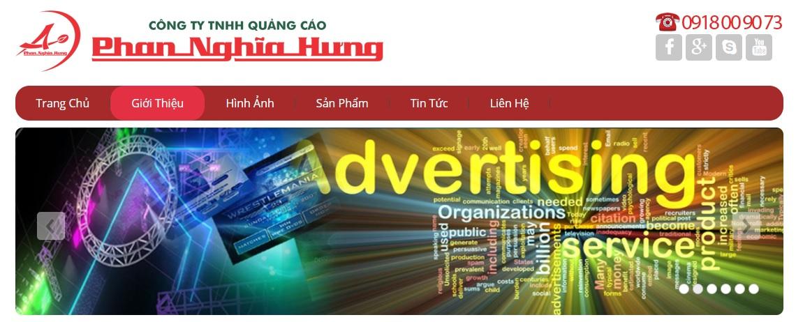 Công ty thi công bảng hiệu quảng cáo Phan Nghĩa Hưng