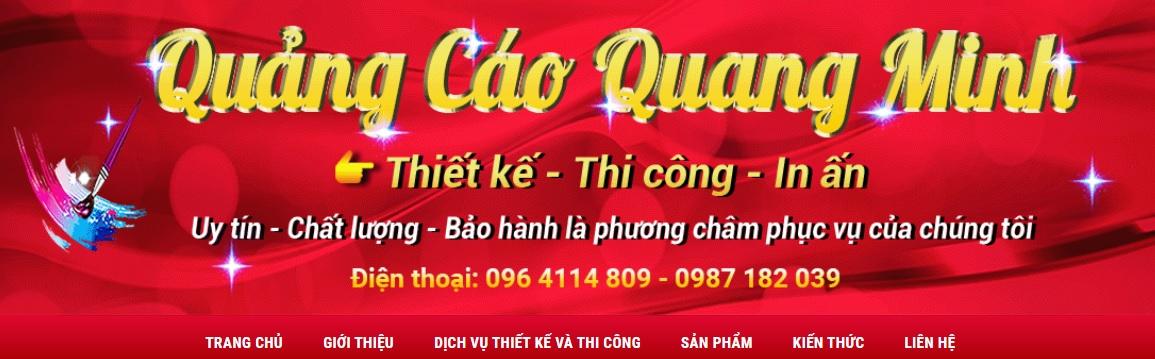 Công ty thi công bảng hiệu quảng cáo Quang Minh