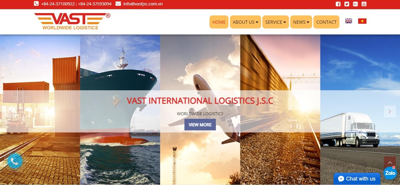 Công ty vận tải và Logistics - VAST INTERNATIONAL LOGISTICS J.S.C