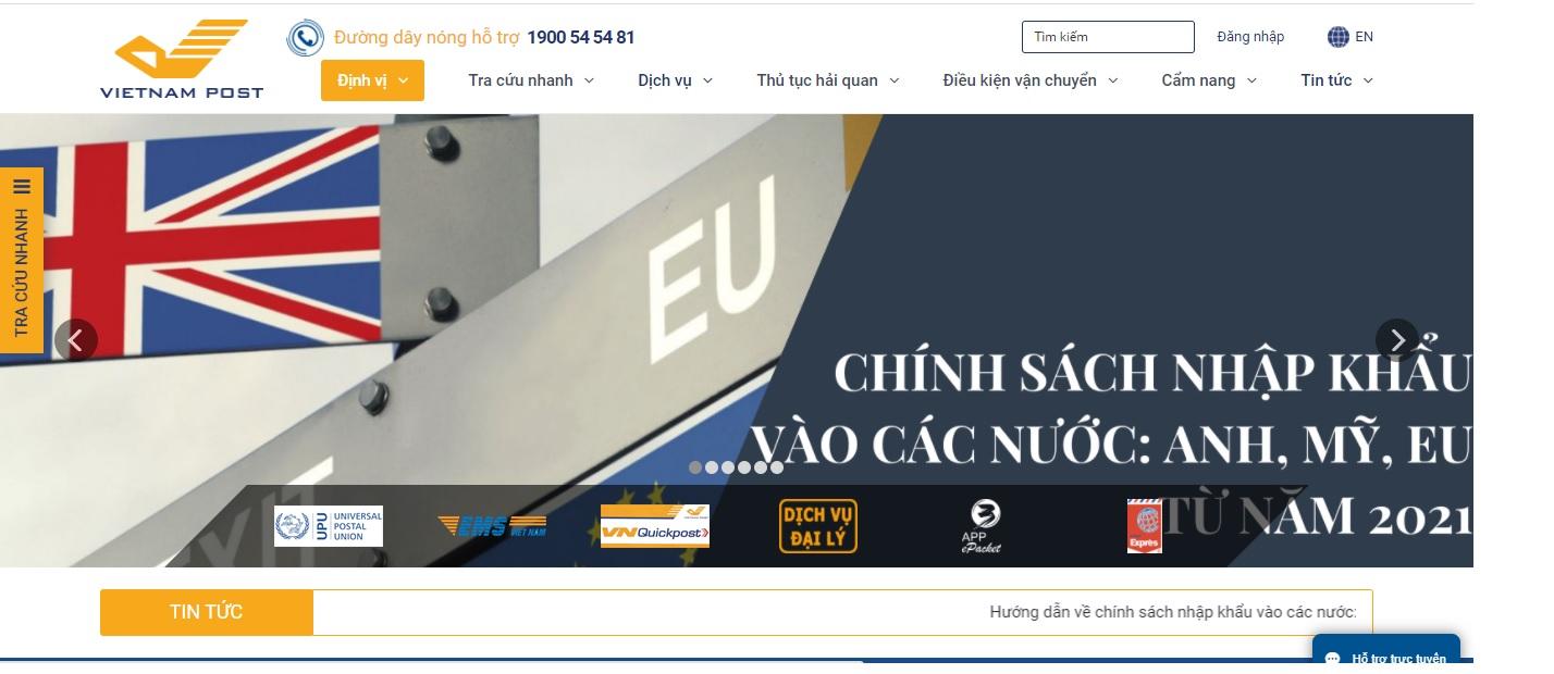 Công ty vận tải và Logistics - Vietnam Post