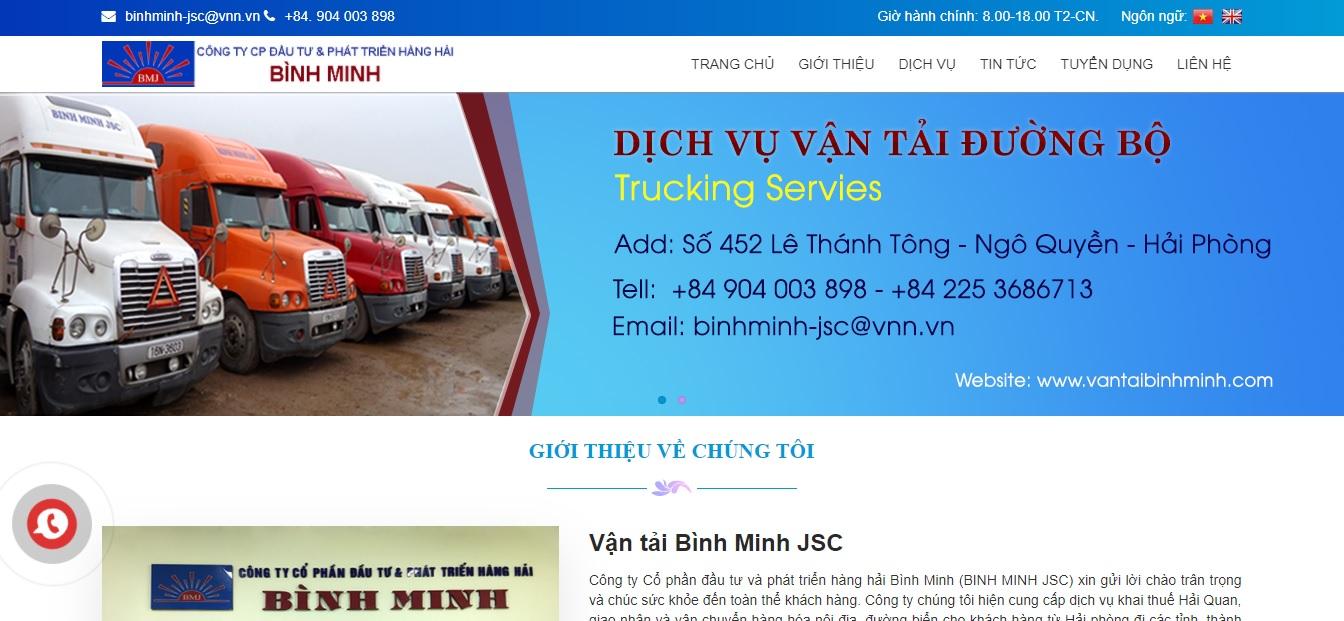 Công ty  vận tải và logistics - Binh Minh JSC