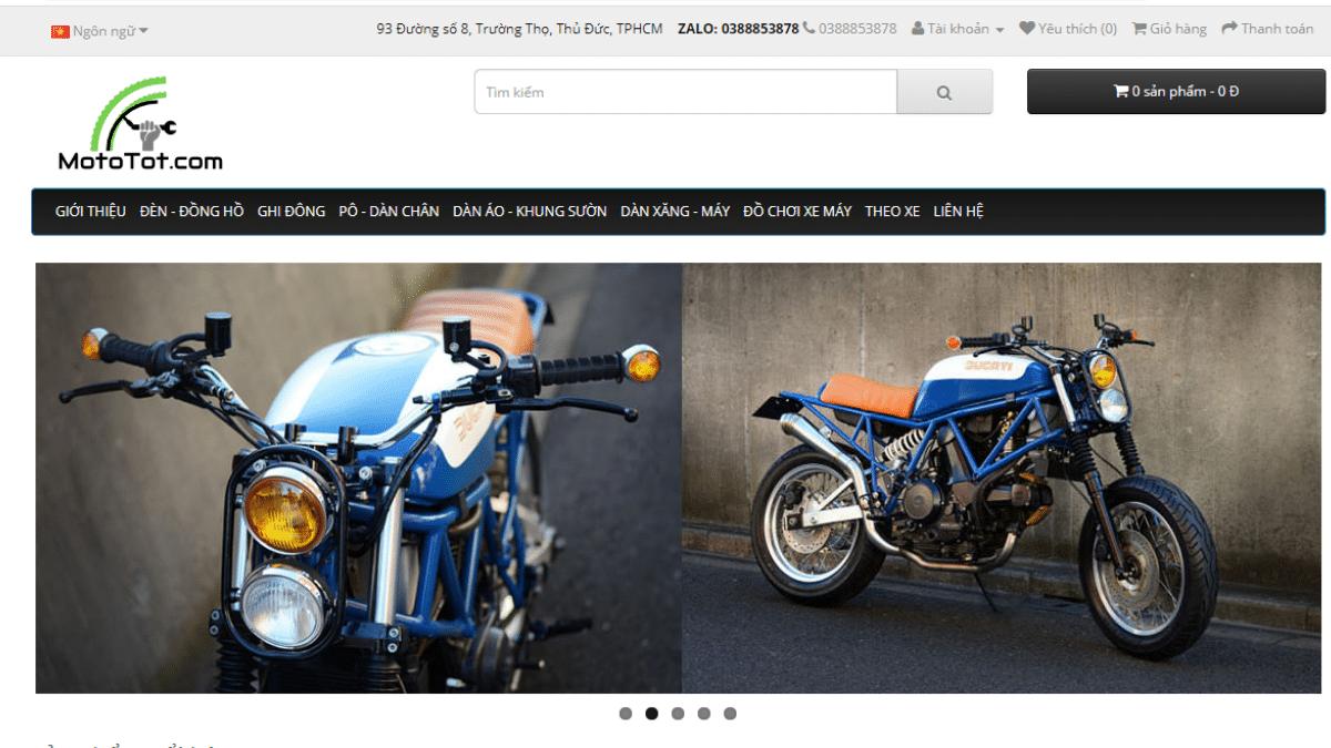 Địa chỉ bán phụ kiện mô tô MotoTot.com