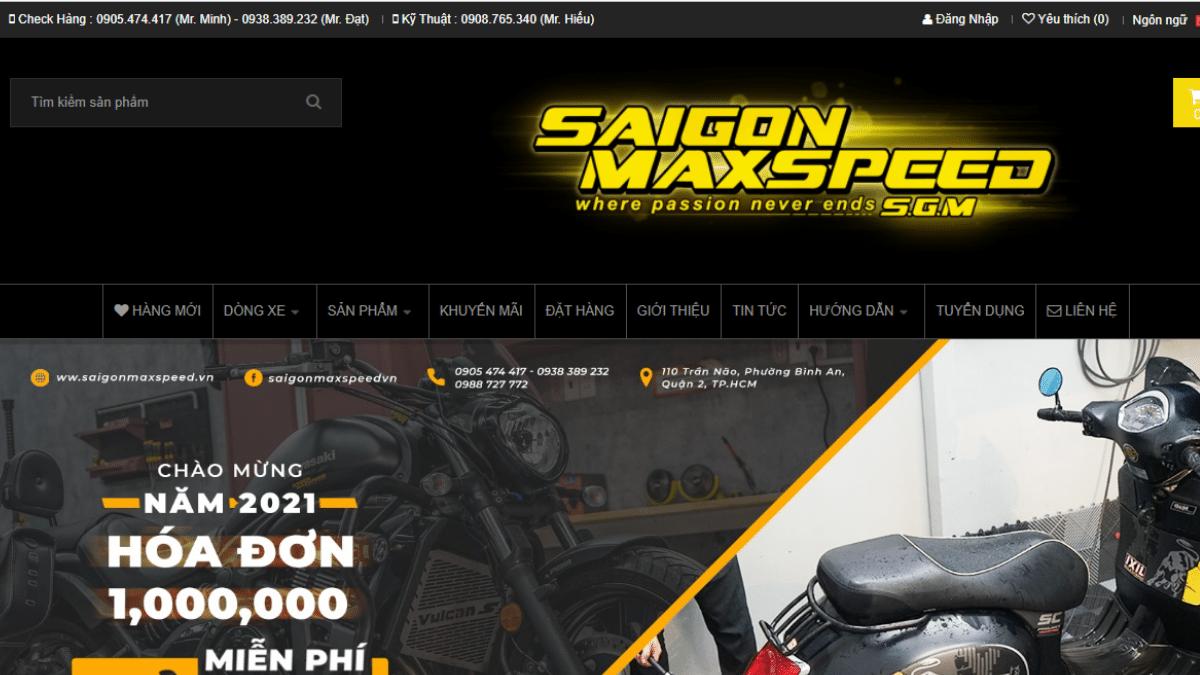 Công ty phụ tùng đồ chơi mô tô Sài Gòn Maxspeed