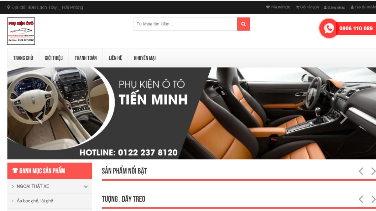 Công ty phụ tùng đồ chơi ô tô Tiến Minh