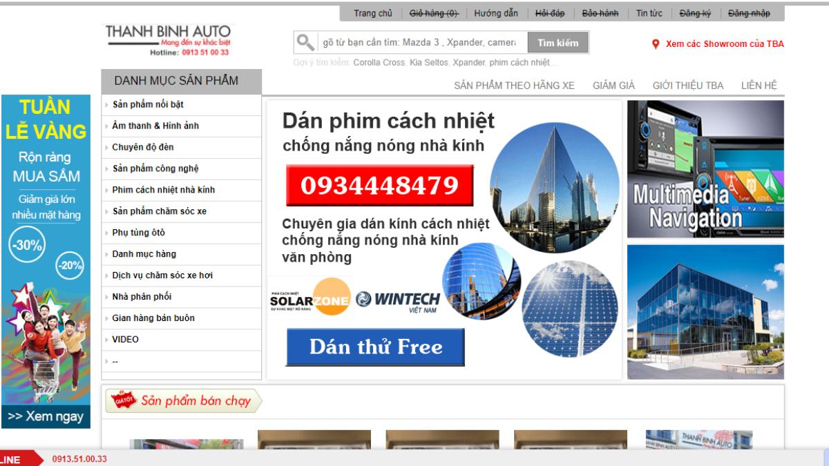 Công ty phụ tùng – phụ kiện – đồ chơi ô tô Thanh Bình Auto