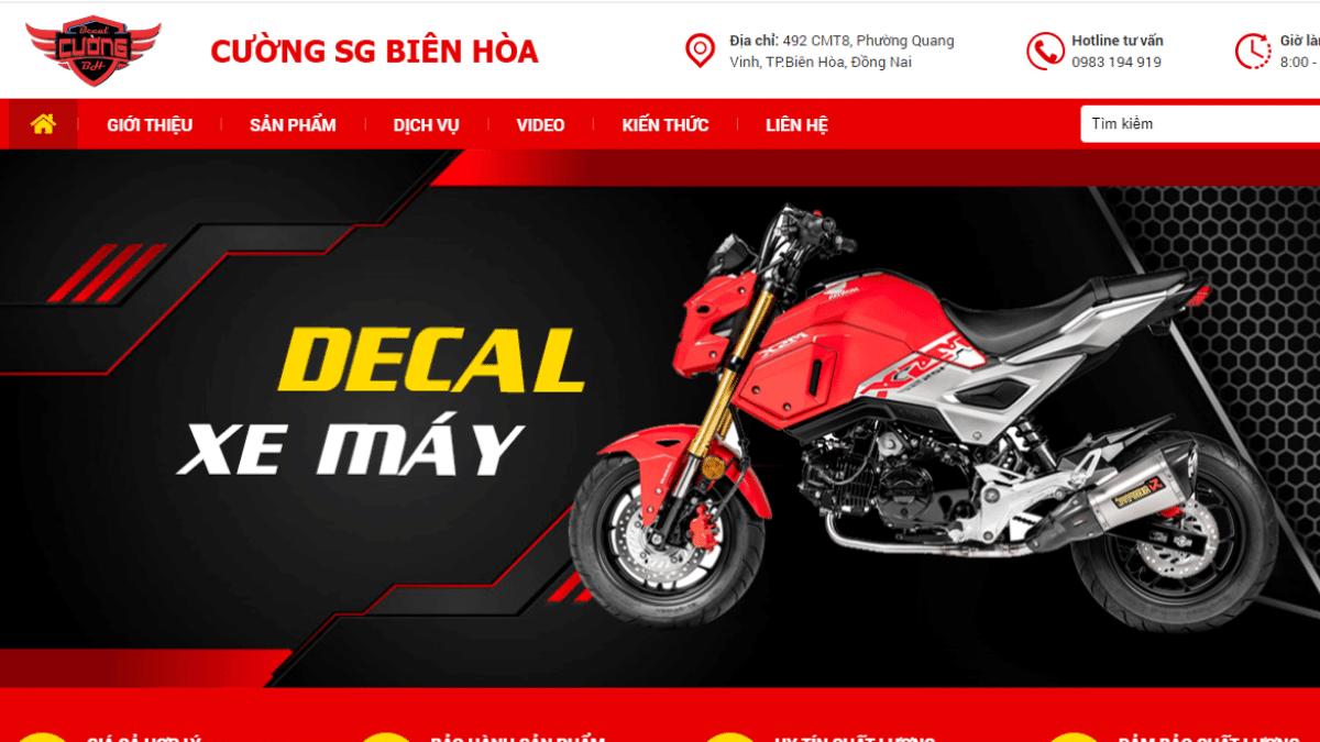 Địa chỉ bán phụ kiện đồ chơi mô tô Cường SG Biên Hòa