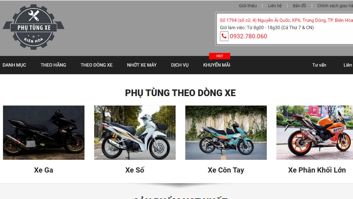 Cửa hàng phụ kiện mô tô xe máy Phutungxebienhoa.com
