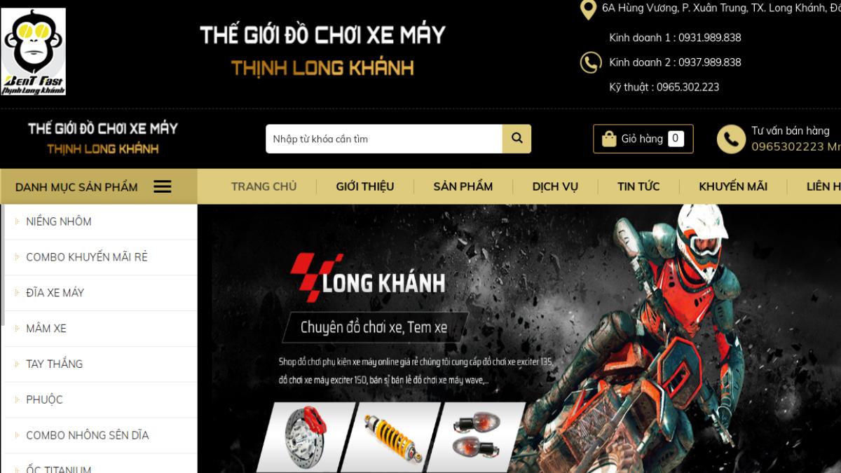 Cửa hàng phụ kiện mô tô xe máy Thịnh Long Khánh